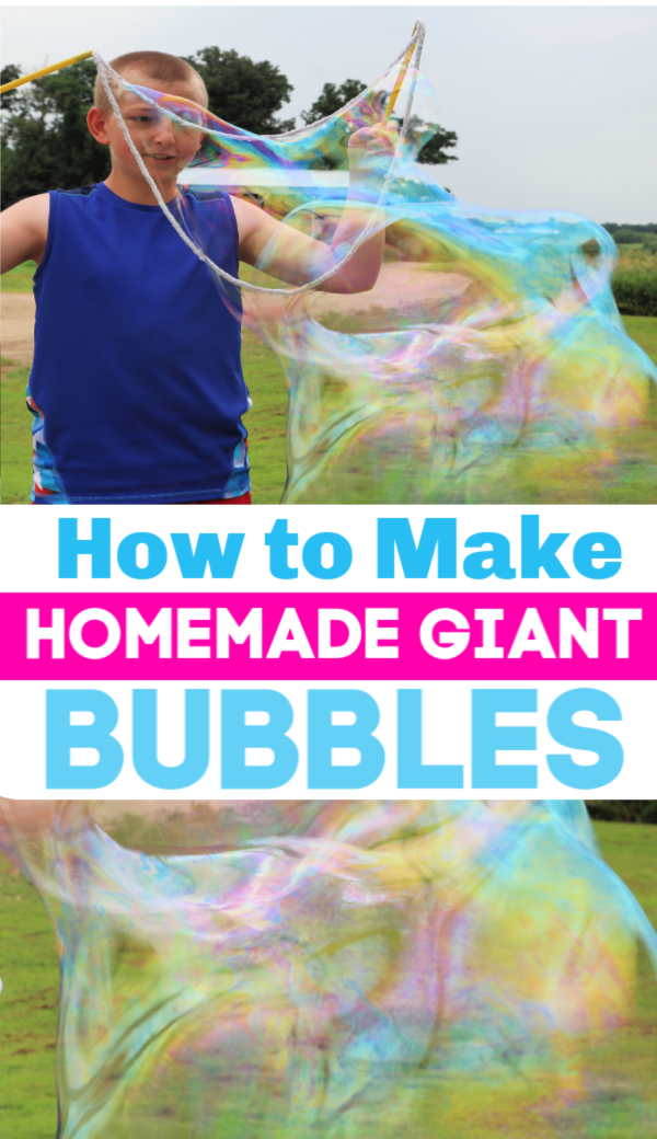 How to Make Homemade Giant Bubbles - Easy to make, Giant Bubbles Recipe!