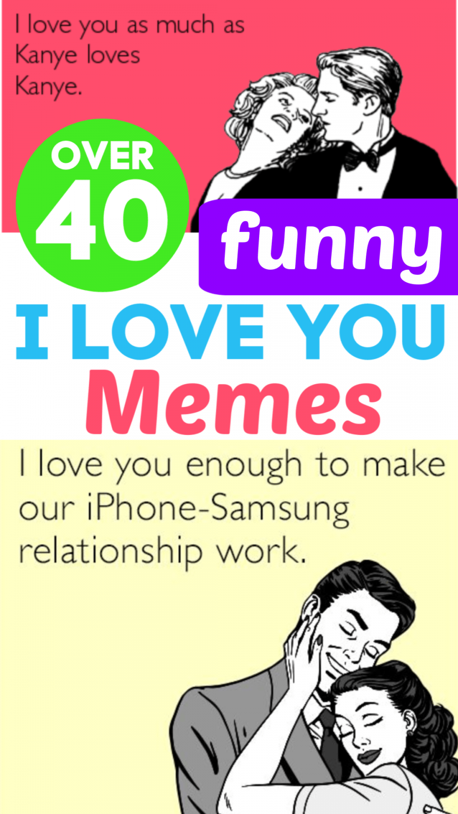 Over 40 Funny I Love You Memes