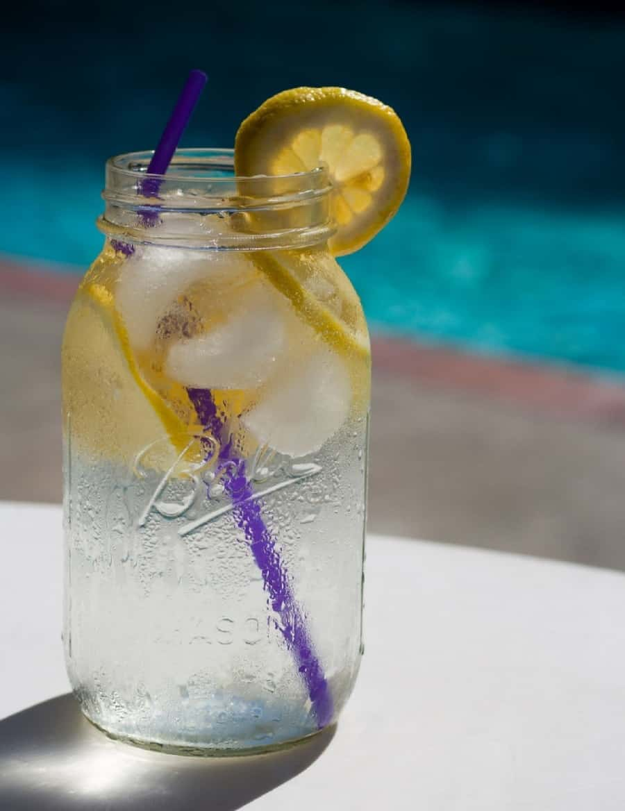 water with lemons and ice - 12 Simple Ways To Love Yourself As A Mom