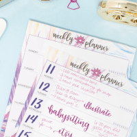Double Sided Weekly Planning Pad