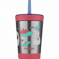 12oz. Spill-Proof Kids Stainless Steel Tumbler with Straw