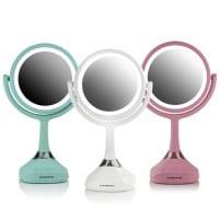 Ovente Tabletop Vanity Mirror with Speaker