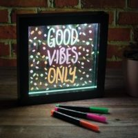Neon Effect Message Frame - Lights Up