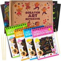 aGreatLife Rainbow Scratch Art Notebook for Kid