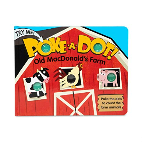 Melissa and Doug Children's Book - Poke-A-Dot: Old Macdonald's Farm (Board Book with Buttons To Pop)