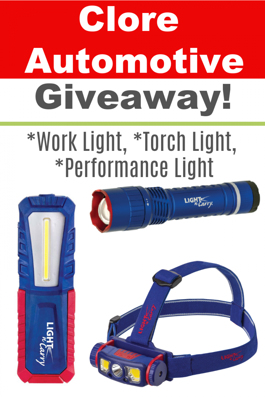Clore Automotive Giveaway ~ Men Will Espeically Love This Prize Package!