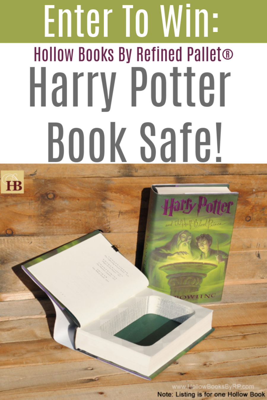 Hollow Books By Refined Pallet® {Harry Potter Book Safe Giveaway!}