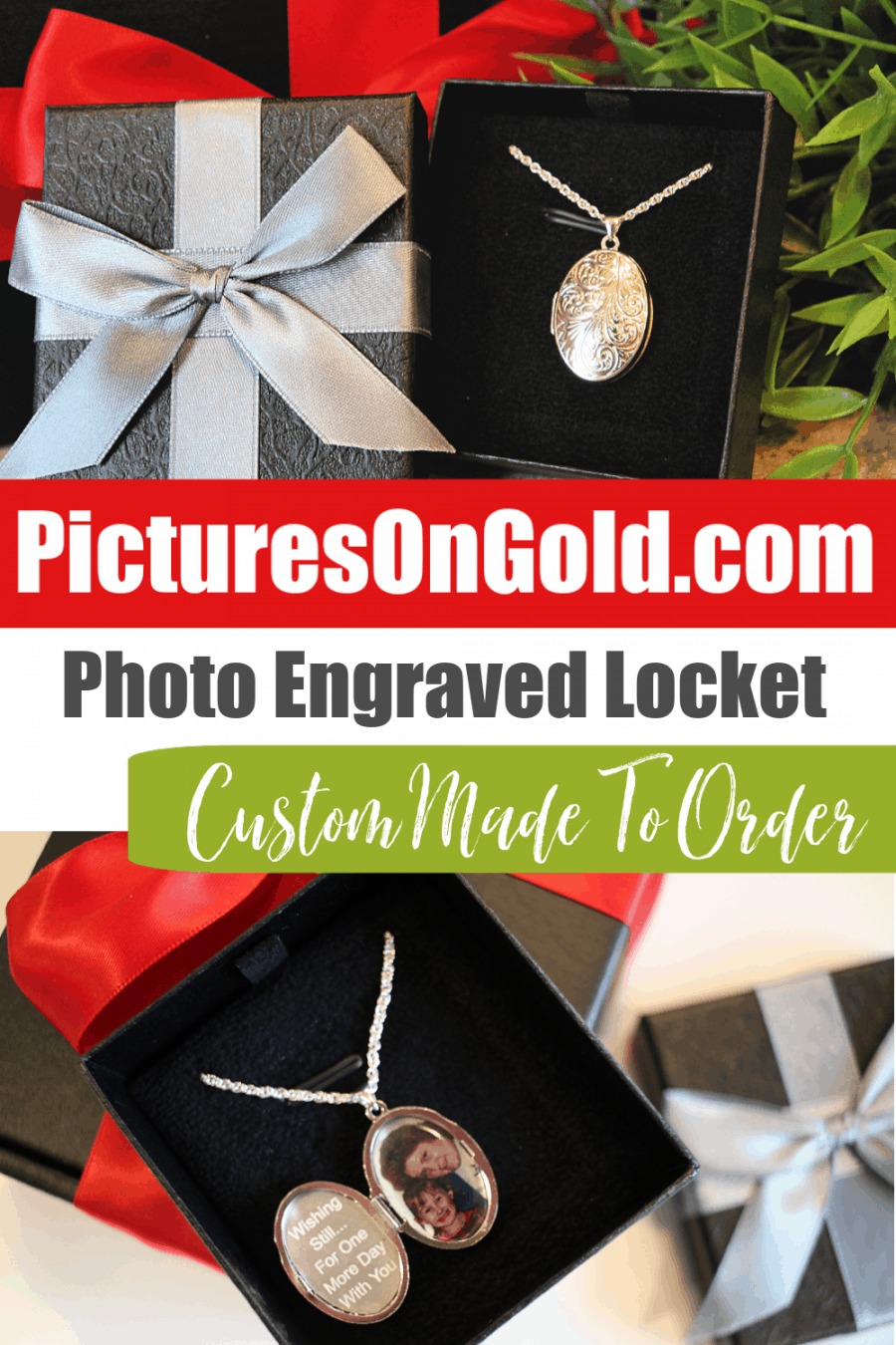PicturesOnGold Custom Locket Necklace {Review} - Sterling Silver Floral Oval Locket