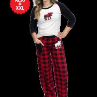 Moose Plaid Matching Family Pajamas