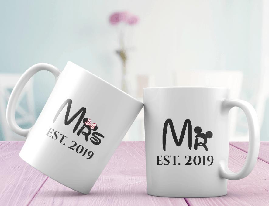 365Cancas Custom Gifts: Mr and Mrs Est Custom Mugs Wedding Gift