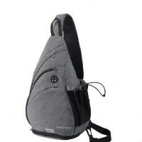 Shoulder Sling Backpack with one strap made of special linen (water resistant)