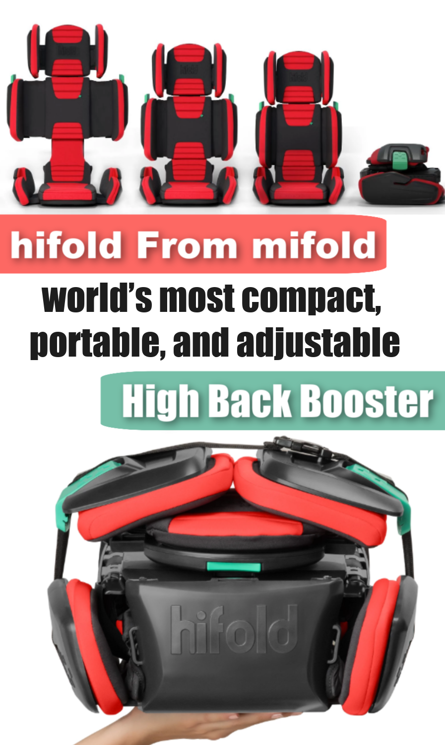 hifold Booster Review - The Fit And Fold Booster You Can Take With You! 3 - world's most compact, portable, and adjustable