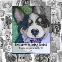 Pet Lovers Hand Drawn Coloring Book