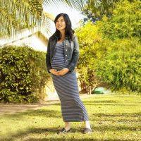 skinnytees Maternity Maxi Dress