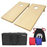 Solid Wood Premium Cornhole Set