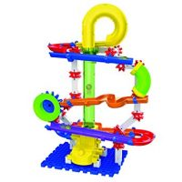 The Learning Journey Techno Gears Marble Mania STEM Construction Set Slingshot Marble Run (80+ Pieces)