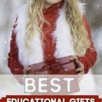 girl with gift - Best Educational Gifts For Kids (2020 Kids Educational Gifts Gift Guide)
