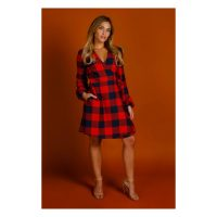 The Red & Black Lumberjack Buffalo Check Christmas Wrap Dress