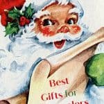 Santa holding a list of the best gifts for preschoolers