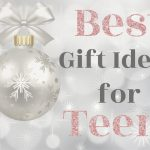 Best Gift Ideas for Teens silver background with ornament