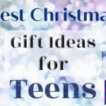 """'Best Christmas gift ideas for teens"""" on sparkle background"""