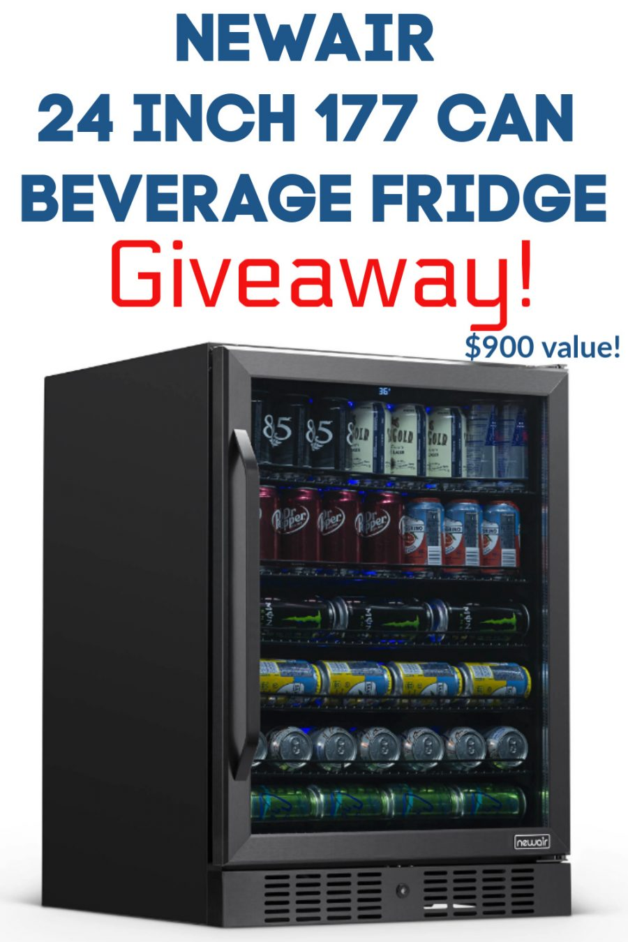 NewAir 24 Inch Built In 177 Can Beverage Fridge Giveaway