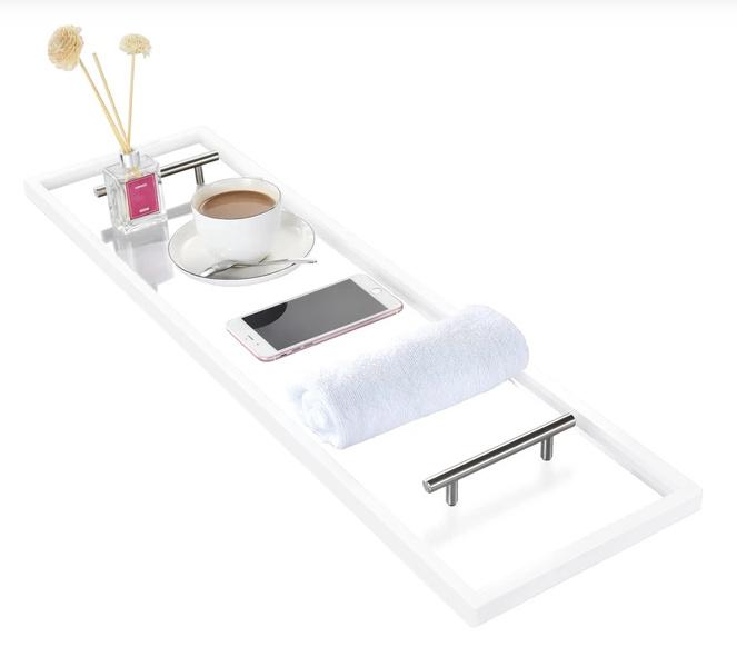 Toilet Tree Products Clear Acrylic Bathtub Caddy