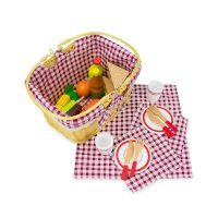 34-Piece Children's Pretend Picnic Basket