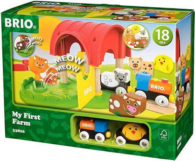 BRIO My First Farm Wooden Toy Train Set