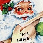 Santa holding a list fo the best gifts for elementary kids