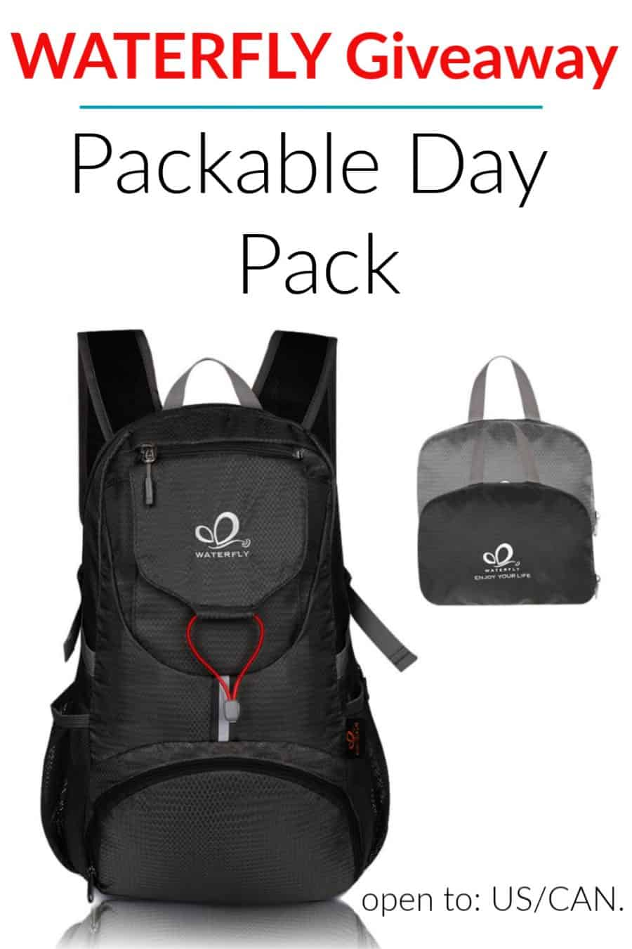 WATERFLY Packable Day Pack Giveaway 2