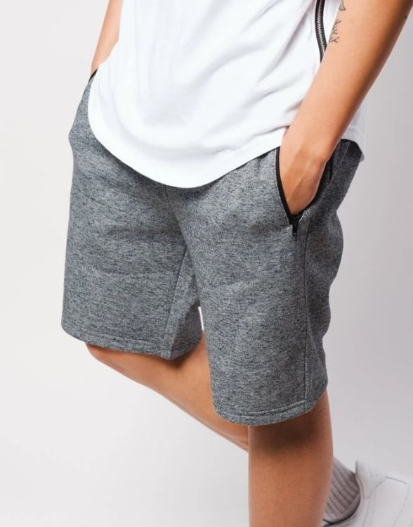 What Men Really Want This Valentines Day - Brooklyn Cloth BLACK MARL ZIP POCKET KNIT SHORTS