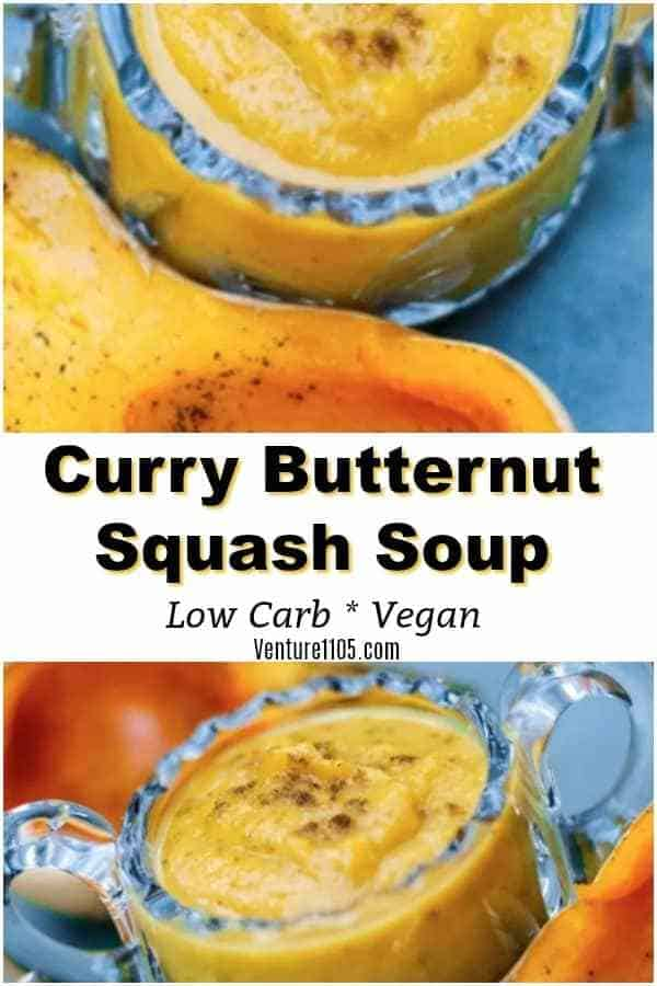 Butternut Squash Soup - With Coconut and Curry