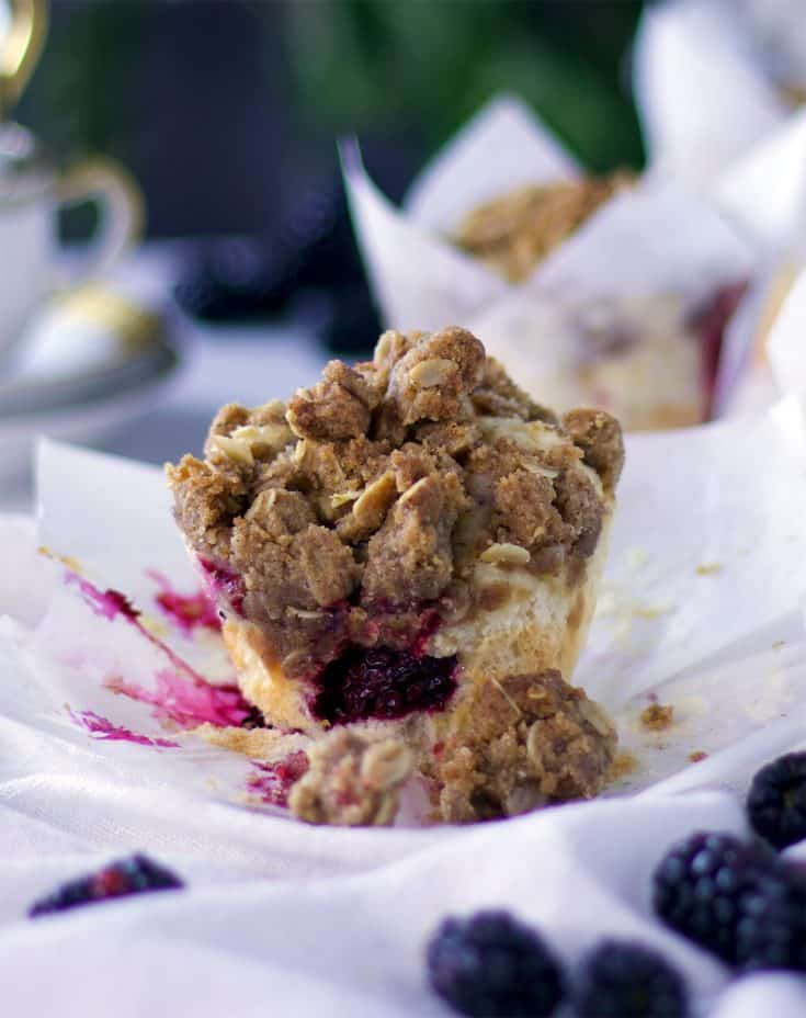 Mixed Berry Muffin Recipe {with Brown Sugar Streusel}