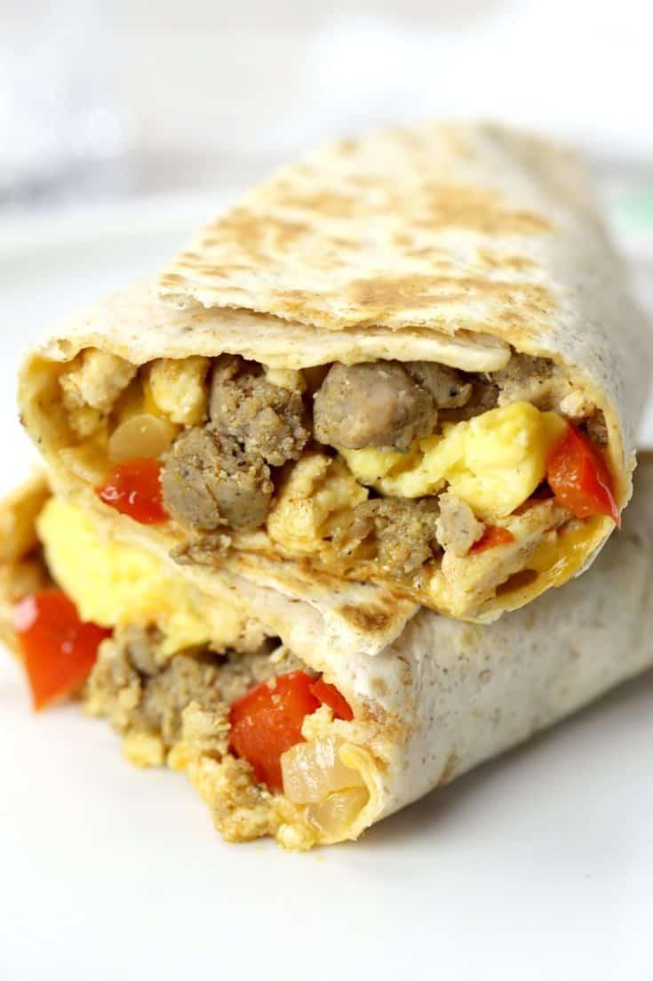 High Protein Freezer Breakfast Burritos
