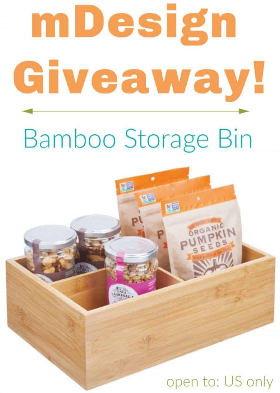 mDesign Bamboo Storage Bin Giveaway