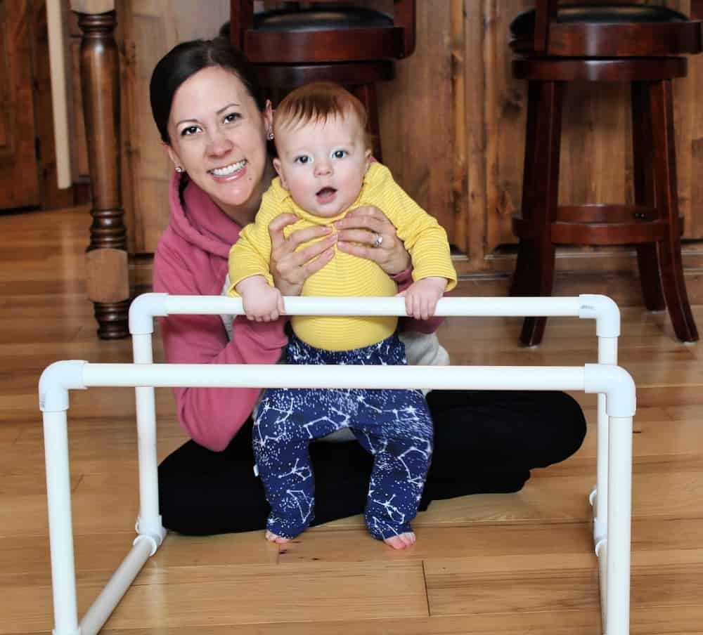 DIY pull up bar for babies
