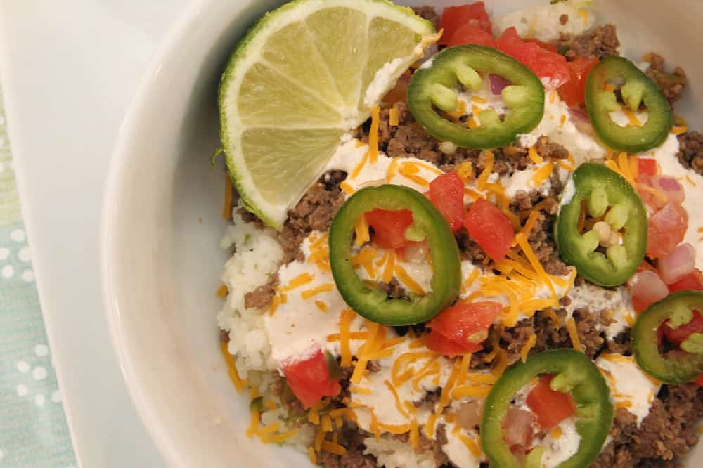 Beef Carnitas Bowls Recipe {With Pepper Jack, Pickled Jalapeño, & Spiced Creama}