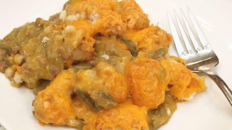 Better than Duggar - Cheesy Tator Tot Casserole Recipe