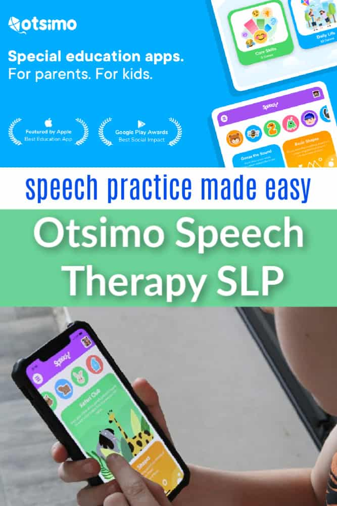 Otsimo Speech Therapy SLP