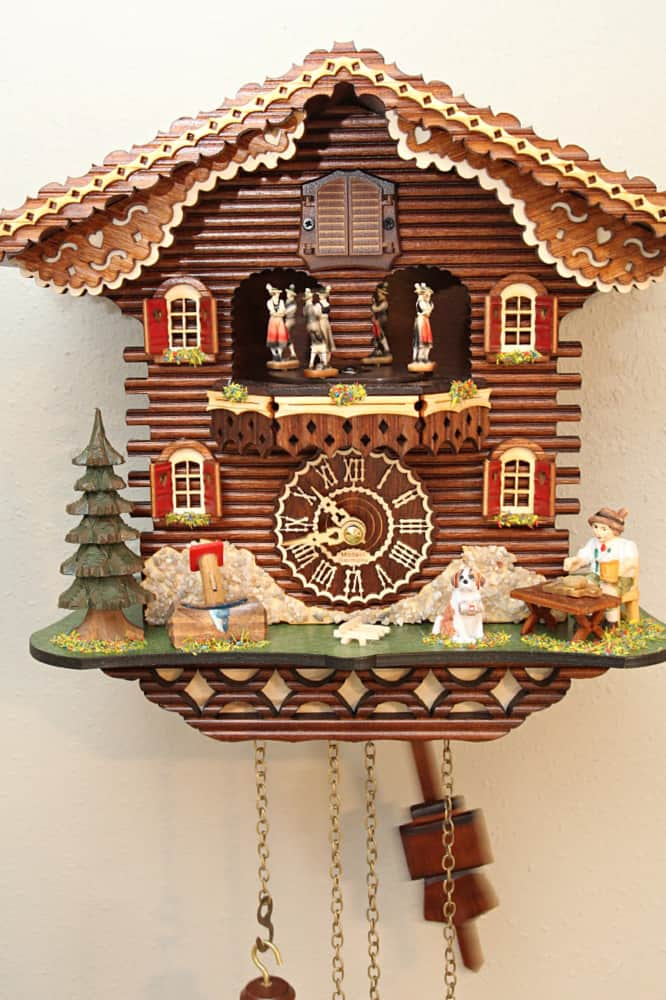 Turning Dancers Trenkle Black Forest Clock Swiss House