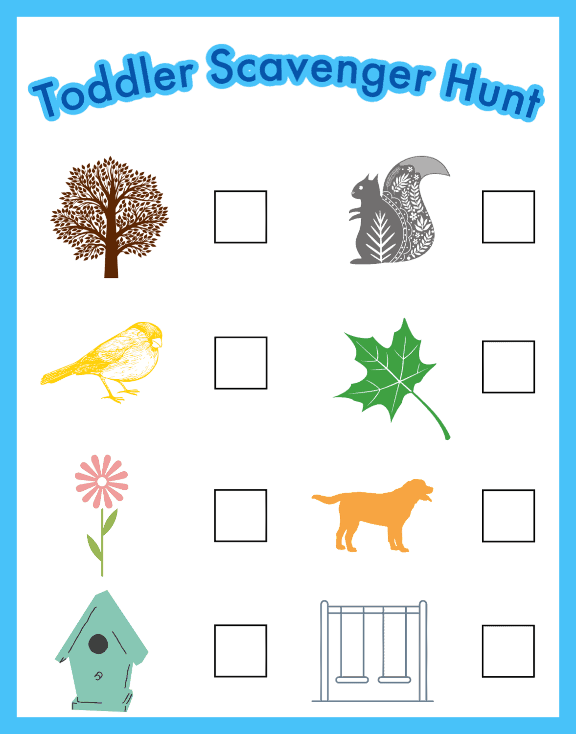 toddler scavenger hunt