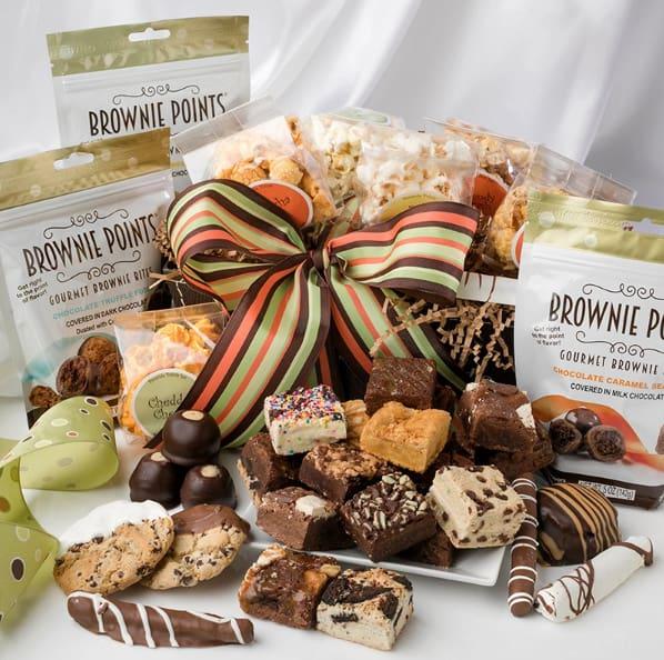 Treat Basket - Brownie Points Gourmet Baby Brownies