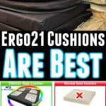 Ergo21 Cushions Are The Best - Ergo21 Giveaway - Enter To Win A Travel Cushion + Bike Cushion Duo!