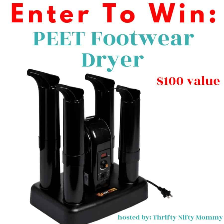 PEET Advantage 4-Shoe Electric Express Shoe and Boot Dryer Giveaway