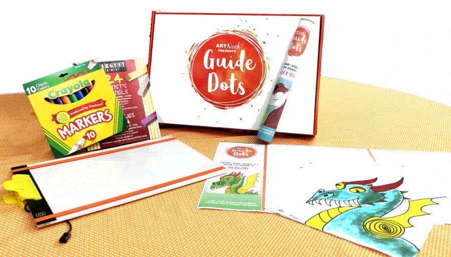 GuideDots drawing kit - Self Care During Isolation + Fun Ideas, Toys, And Activities For Kids