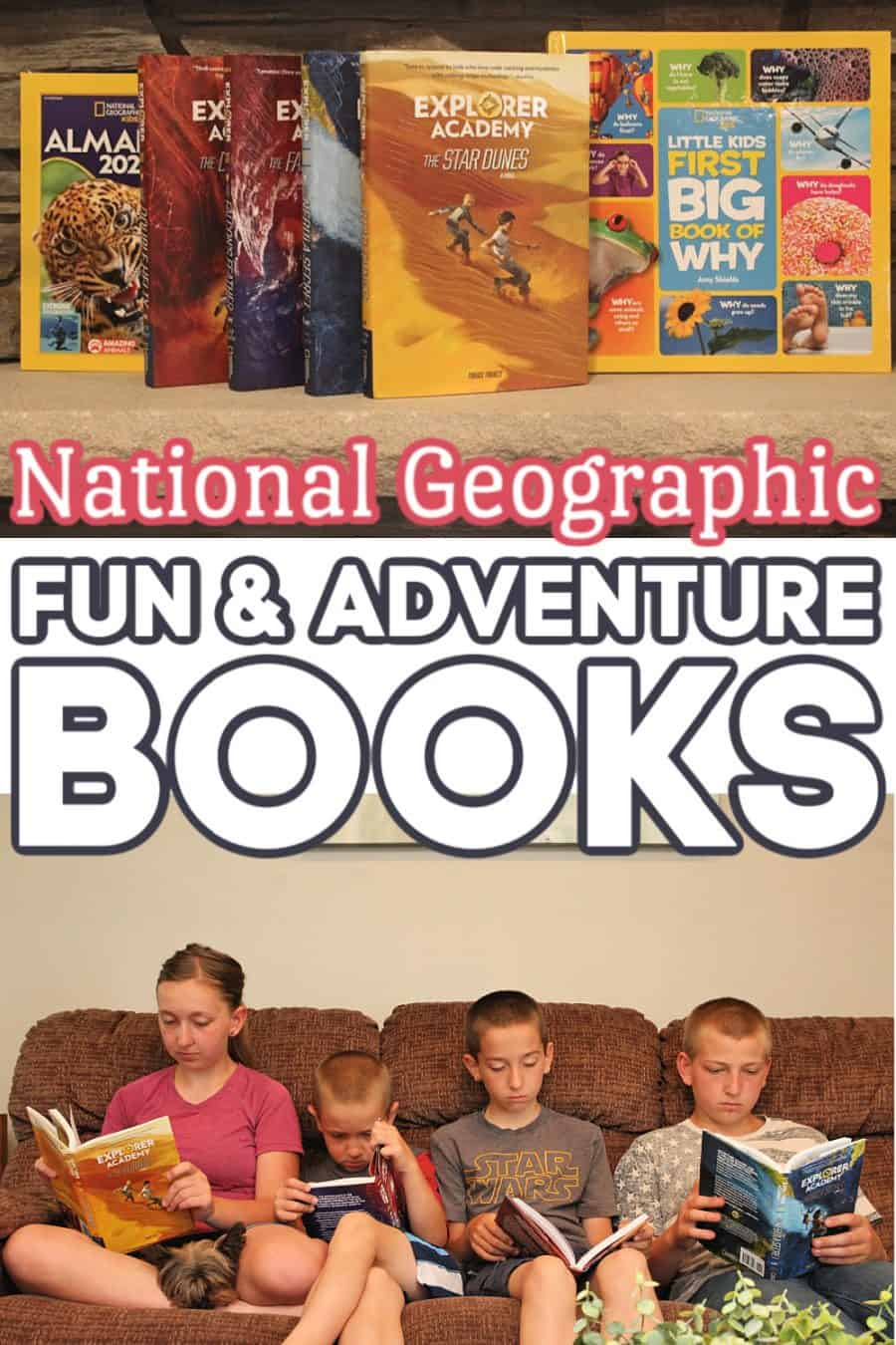 Books and kids - Awesome Adventure Chapter Books For Kids + More Nat Geo Must Haves!