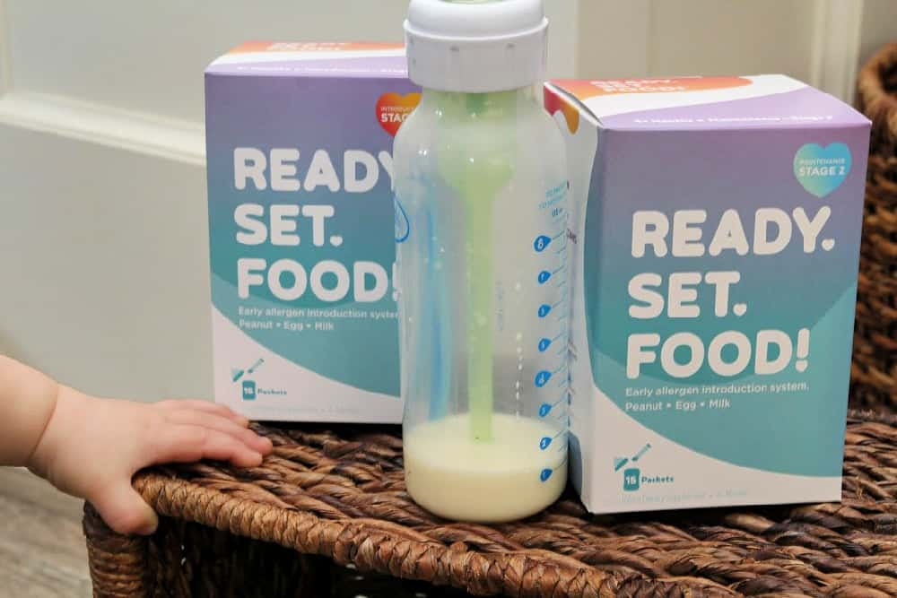 baby hand, bottle, & supplement - Preventing Childhood Food Allergies [With Ready, Set, Food!]