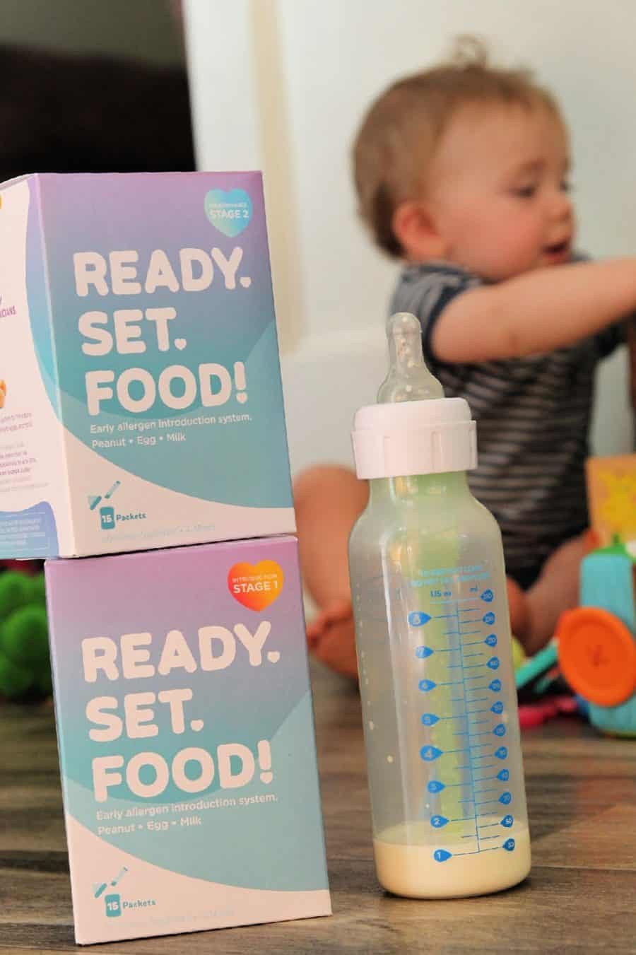 baby bottle - Preventing Childhood Food Allergies [With Ready, Set, Food!]