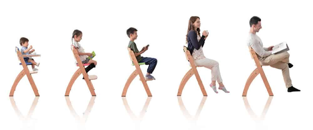 various ages of people on chair